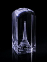 eiffel tower crystal souvenir