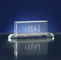 rectangular crystal business card holder